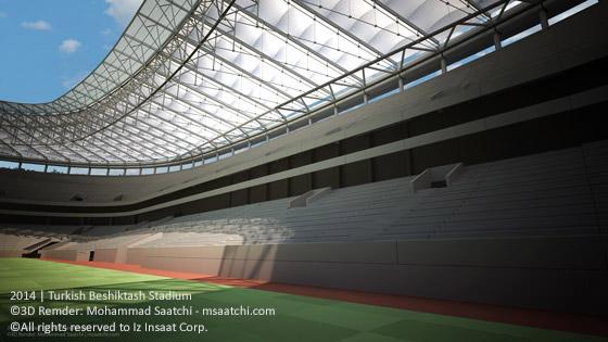 Turkish Beshiktash Stadium